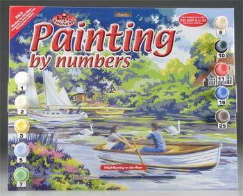 Royal Brush Manufacturing PBN Boating/River 15x11-1/4 -- Paint By Number Kit -- #pal8