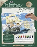 Royal-Brush PBN Canvas Sailing Ships 11x14 Paint By Number Kit #pcl1