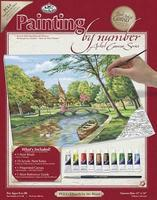 Royal-Brush PBN Canvas Church by the River 11x14 Paint By Number Kit #pcl4