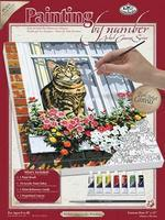 Royal-Brush PBN Canvas Cat In The Window 9x12 Paint By Number Kit #pcs11