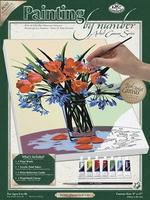 Royal-Brush PBN Canvas Floral Still Life 9x12 Paint By Number Kit #pcs2
