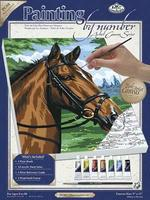 Royal-Brush PBN Canvas Thoroghbred 9x12 Paint By Number Kit #pcs8