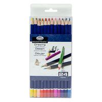 Royal-Brush 24pc Color Pencils Set Drawing Kit #pen-24-3t