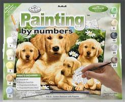 Royal-Brush Junior PBN Golden Retriever 15x11-1/4 Paint By Number Kit #pjl12