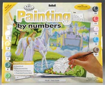 Royal Brush Manufacturing Junior PBN Fairy Castle 15x11-1/4 -- Paint By Number Kit -- #pjl20