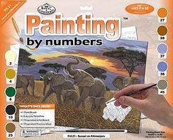 Royal-Brush JR PBN Large Sunset on Kilimanjaro Paint By Number Kit #pjl21