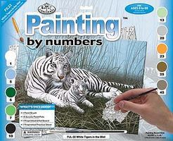 Royal-Brush JR PBN Large White Tigers in the Mist Paint By Number Kit #pjl22
