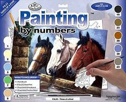 Royal-Brush JR PBN Large Three of a Kind Paint By Number Kit #pjl23