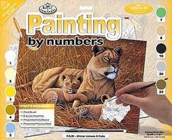 Royal-Brush JR PBN Large African Lioness Paint By Number Kit #pjl26
