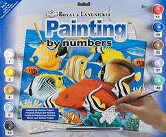Royal-Brush Junior PBN Large Tropical Fish Paint By Number Kit #pjl30