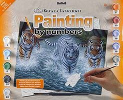 Royal-Brush Junior PBN Large Three Tigers Paint By Number Kit #pjl34