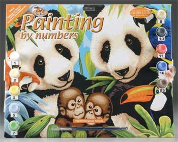 Royal Brush Manufacturing Junior PBN Endangered Animals 15x11-1/4 -- Paint By Number Kit -- #pjl8