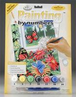 Royal-Brush Jr PBN Butterflies 8-3/4x11-3/4 Paint By Number Kit #pjs17
