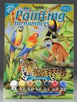 Royal-Brush Junior PBN Jungle Scene 8-3/4x11-3/4 Paint By Number Kit #pjs28