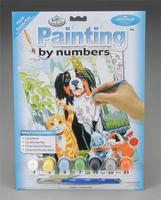 Royal-Brush Junior PBN Family Pets 8-3/4x11-3/4 Paint By Number Kit #pjs29