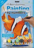 Royal-Brush Junior PBN Small Clown Fish Paint By Number Kit #pjs56