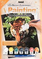 Royal-Brush Junior PBN Small Thirsty Tiger Paint By Number Kit #pjs57