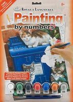 Royal-Brush Junior PBN Small Mailbox Kittens Paint By Number Kit #pjs59