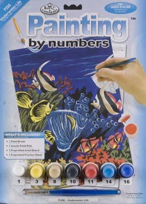 Royal Brush Manufacturing Jr PBN Underwater Life 8-3/4x11-3/4 -- Paint By Number Kit -- #pjs6