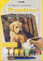 Royal-Brush Junior PBN Small Puppy Blues Paint By Number Kit #pjs60
