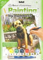Royal-Brush Junior PBN Small Garden Puppy Paint By Number Kit #pjs61