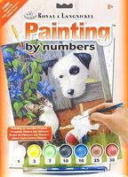 Royal-Brush Junior PBN Small Friends At Play Paint By Number Kit #pjs66