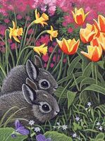 Royal-Brush JR PBN Spring Bunnies Paint By Number Kit #pjs78