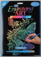 Royal-Brush Rainbow Foil Engraving Butterflies Scratch Art Metal Art Kit #rain12