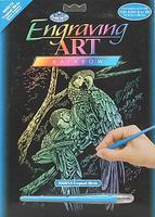 Royal-Brush Rainbow Foil Engraving Art Tropical Birds Scratch Art Metal Art Kit #rain13