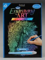 Royal-Brush Rainbow Engraving Art Peacock Scratch Art Metal Art Kit #rain14