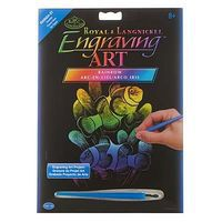 Royal-Brush Rainnbow EA Clown Fish Scratch Art Metal Art Kit #rain24