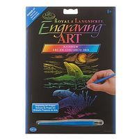 Royal-Brush Rainbow EA Dolphin Reef Scratch Art Metal Art Kit #rain25