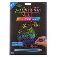 Royal-Brush Rainbow EA Kitten/Butterflies Scratch Art Metal Art Kit #rain26