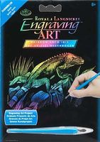Royal-Brush Mini Rainbow Engraving Art Iguana Scratch Art Metal Art Kit #rainmin-105