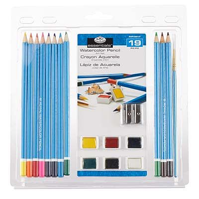 Royal Brush Manufacturing 3T-Watercolor Pencil Clamshell -- Watercolor Paint -- #rart-2001