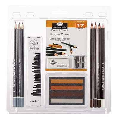 Royal Brush Manufacturing 3T-Sepia Tone Pastel/Pastel -- Drawing Kit -- #rart-2007