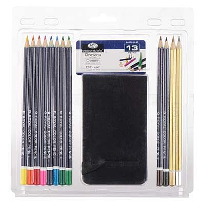 Royal Brush Manufacturing Drawing Pencil Set w/Sketchbook -- Drawing Kit -- #rart-2103