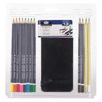 Royal-Brush Drawing Pencil Set w/Sketchbook Drawing Kit #rart-2103