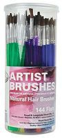 Royal-Brush Camel Hair Flat Artist Brushes (144)