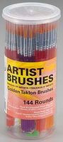 Royal-Brush Gold Taklon Round Rounds (144)