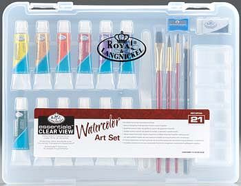 Royal Brush Manufacturing Small Clear View Watercolor Painting Set -- Watercolor Paint -- #rset-art3102