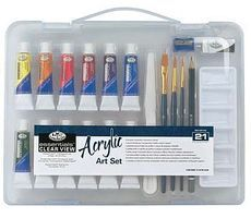 Royal-Brush Small Clear View Acrylic Painting Set Paint By Number Kit #rset-art3103