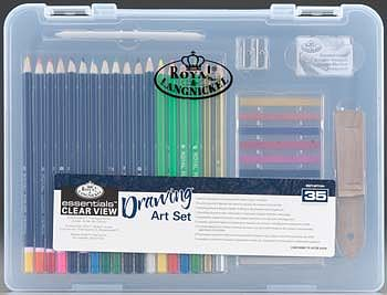 Royal Brush Manufacturing Small Clear View Drawing Set -- Drawing Kit -- #rset-art3104