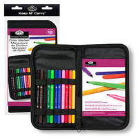Royal-Brush Keep N Carry Color Marker Set Drawing Kit #rset-kccm