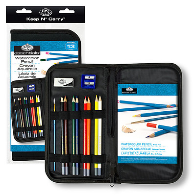 Royal Brush Manufacturing Keep N' Carry Watercolor Pencil Set -- Painting Kit -- #rset-kcwps