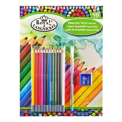 Royal Brush Manufacturing 9x12 Watercolor Pencil Pad Set -- Watercolor Paint -- #rtn-105