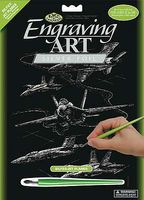 Royal-Brush Silver Engraving Jet Planes Scratch Art Metal Art Kit #silf25