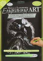 Royal-Brush Silver Engraving Art Dragon Tower Scratch Art Metal Art Kit #silf26