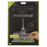 Royal-Brush Silver EA Eiffel Tower Scratch Art Metal Art Kit #silf35