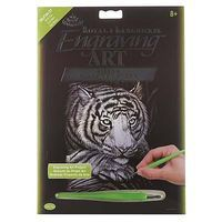 Royal-Brush Silver EA White Tiger Scratch Art Metal Art Kit #silf38